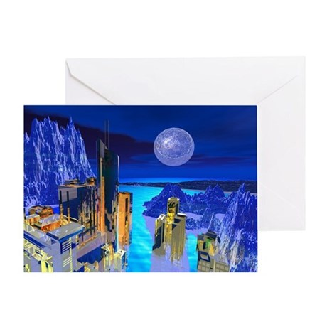 Fantasy Cityscape Greeting Card