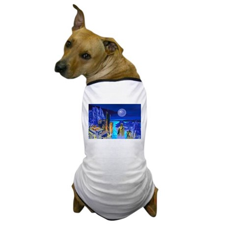 Fantasy Cityscape Dog T-Shirt