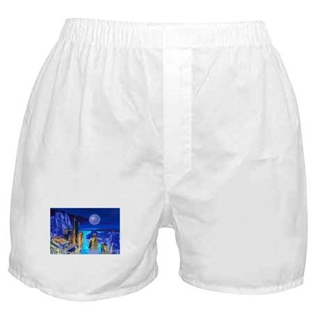 Fantasy Cityscape Boxer Shorts