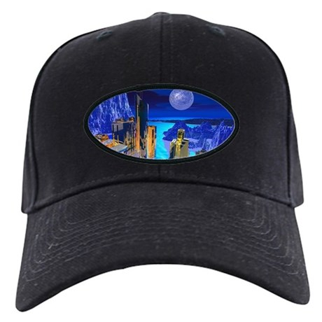 Fantasy Cityscape Black Cap