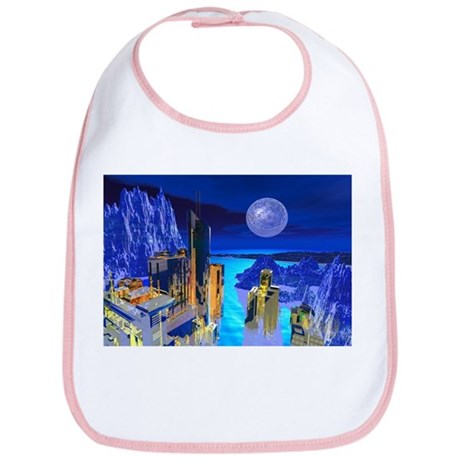 Fantasy Cityscape Bib