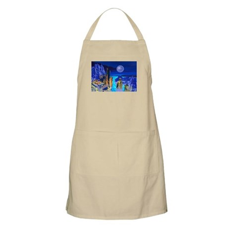 Fantasy Cityscape BBQ Apron