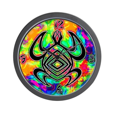 Tiedye Turtle Wall Clock
