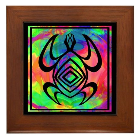 Tiedye Turtle Framed Tile