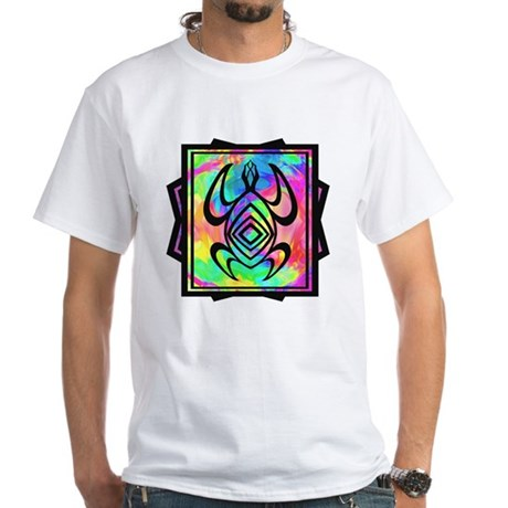Tiedye Turtle White T-Shirt