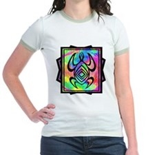 Tiedye Turtle Jr. Ringer T-Shirt