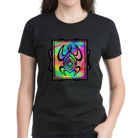 Tiedye Turtle Women's Dark T-Shirt