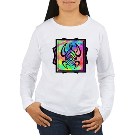Tiedye Turtle Women's Long Sleeve T-Shirt