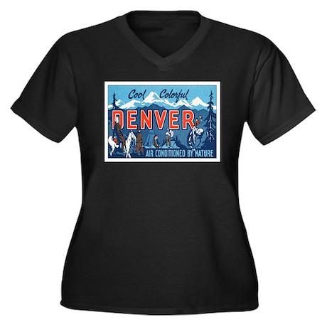 Denver Colorado Women's Plus Size V-Neck Dark T-Sh