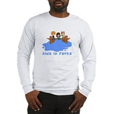 Kids in Forks Long Sleeve T-Shirt