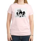 Hockey Players Women's Pink T-Shirt