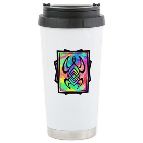Tiedye Turtle Ceramic Travel Mug