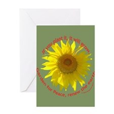 Garden for Peace Greeting Card