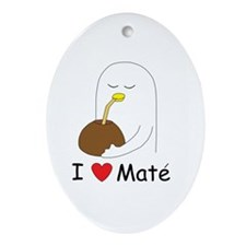I love mate Oval Ornament