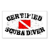 Certified Scuba Diver Rectangle Decal