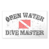 Open Water Dive Master Rectangle Decal