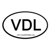 &quot;VDL&quot; Oval Decal
