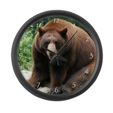 Black Bear Large Wall Clock