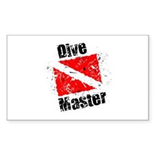 Dive Master Rectangle Decal