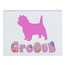 Groovy Cairn Terrier Wall Calendar