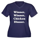 Winner Winner...Dark Women's Plus Size V-Neck Dark