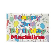 Madeline's 3rd Birthday Rectangle Magnet