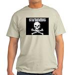 Swimming Pirate Ash Grey T-Shirt