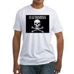 Swimming Pirate Fitted T-Shirt