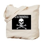 Swimming Pirate Tote Bag