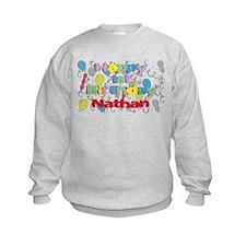 Nathan's 1st Birthday Sweatshirt