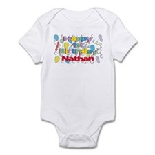 Nathan's 1st Birthday Infant Bodysuit