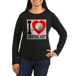 I Love Graphic Art Women's Long Sleeve Dark T-Shir