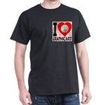 I Love Graphic Art Dark T-Shirt