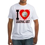 I Love Graphic Art Fitted T-Shirt