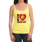 I Love Graphic Art Jr. Spaghetti Tank