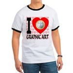 I Love Graphic Art Ringer T