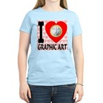 I Love Graphic Art Women's Light T-Shirt