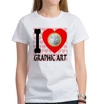 I Love Graphic Art Women's T-Shirt