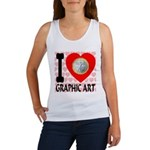 I Love Graphic Art Women's Tank Top