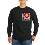 I Love Graphic Art Long Sleeve Dark T-Shirt