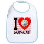 I Love Graphic Art Bib