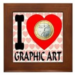 I Love Graphic Art Framed Tile