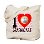 I Love Graphic Art Tote Bag