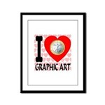 I Love Graphic Art Framed Panel Print