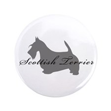 "Scottish Terrier 3.5"" Button"
