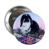 French Lop &amp; Flowers Button