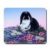 French Lop &amp; Flowers Mousepad