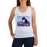 French Lop & Flowers Women's Tank Top