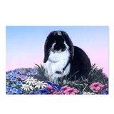 French Lop &amp; Flowers Postcards (Package of 8)