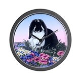 French Lop & Flowers Wall Clock